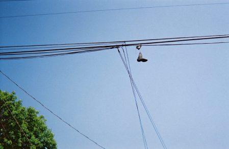 Black Boot Hanging