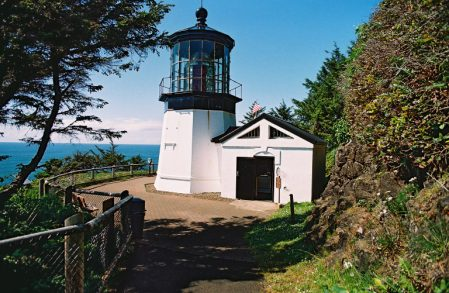 Cape Meares Lighthouse exterior wide