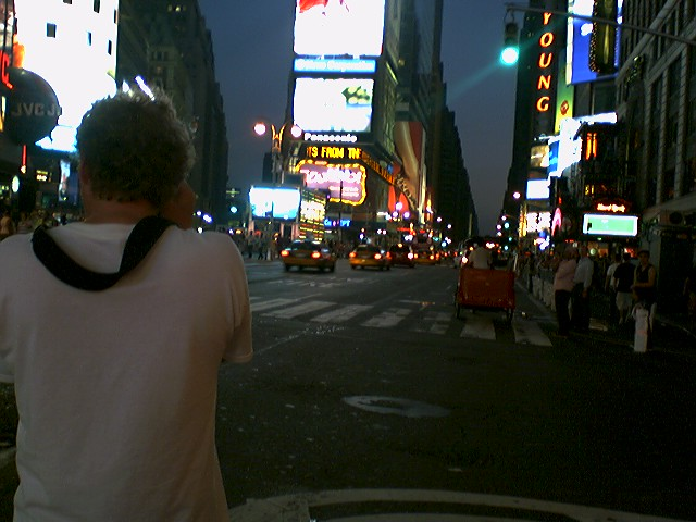Shoot and Pointilism in Times Square