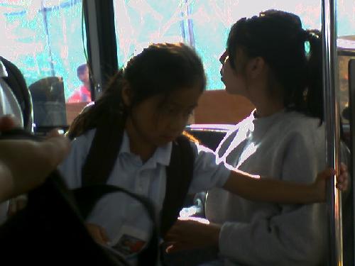 Girls onbus