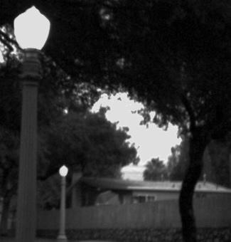 Street lights on Tremont