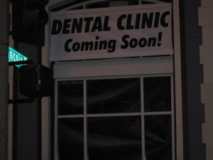 Dental clinic under construction