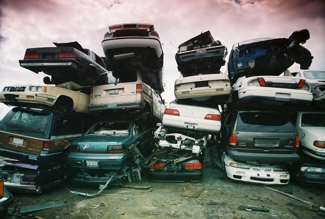 Piles of cars